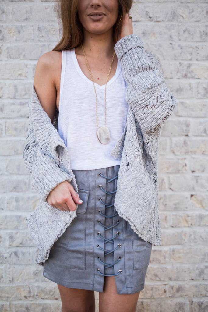 Open Front Slouchy Knit Sweater