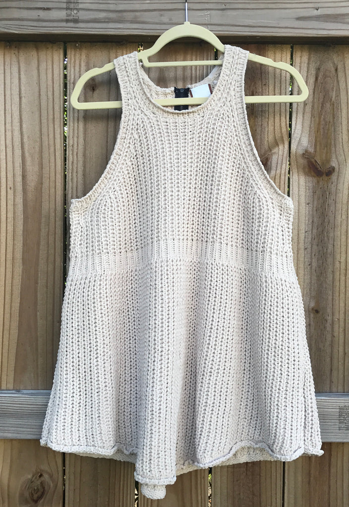 Vail Sweater Tank in Beige