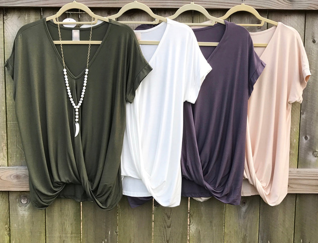 Drape my Way Top - 4 colors