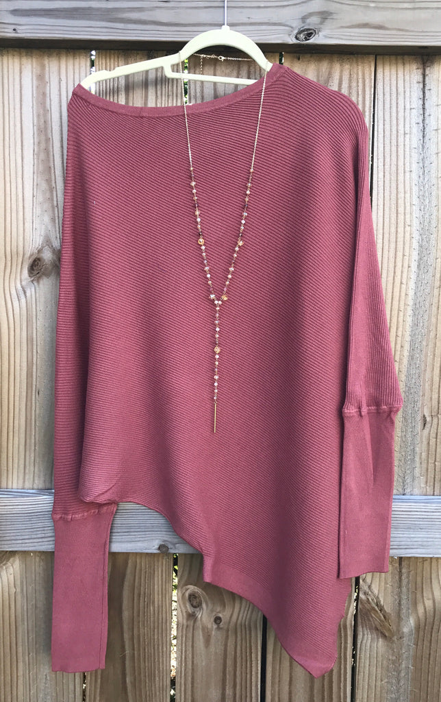 Rodeo Rust Cashmere Off the Shoulder Sweater