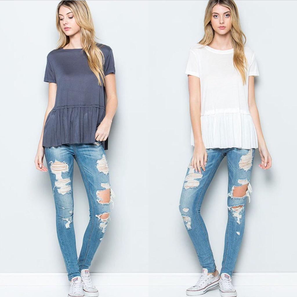Everyday Babydoll Tee - 4 colors