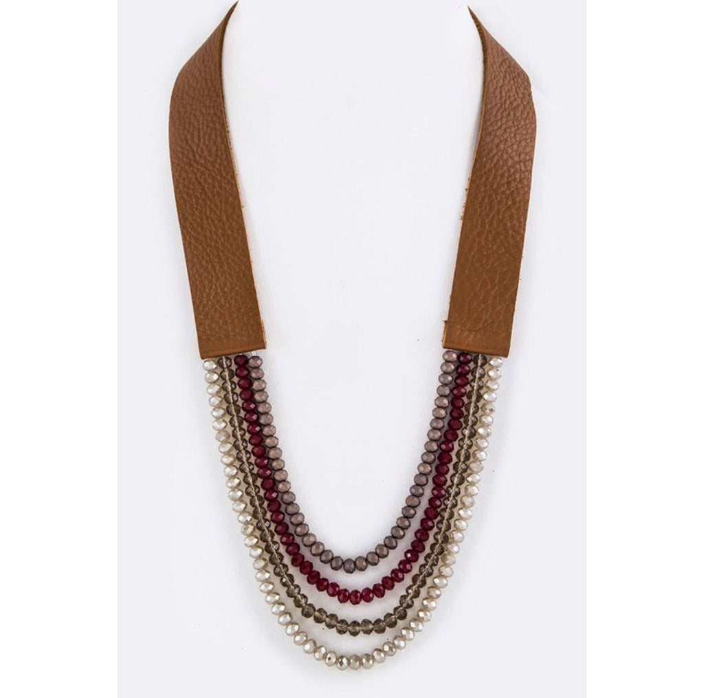 Napa Valley Wine and Camel Statement Necklace