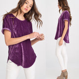 Vivian Velvet Top - Purple