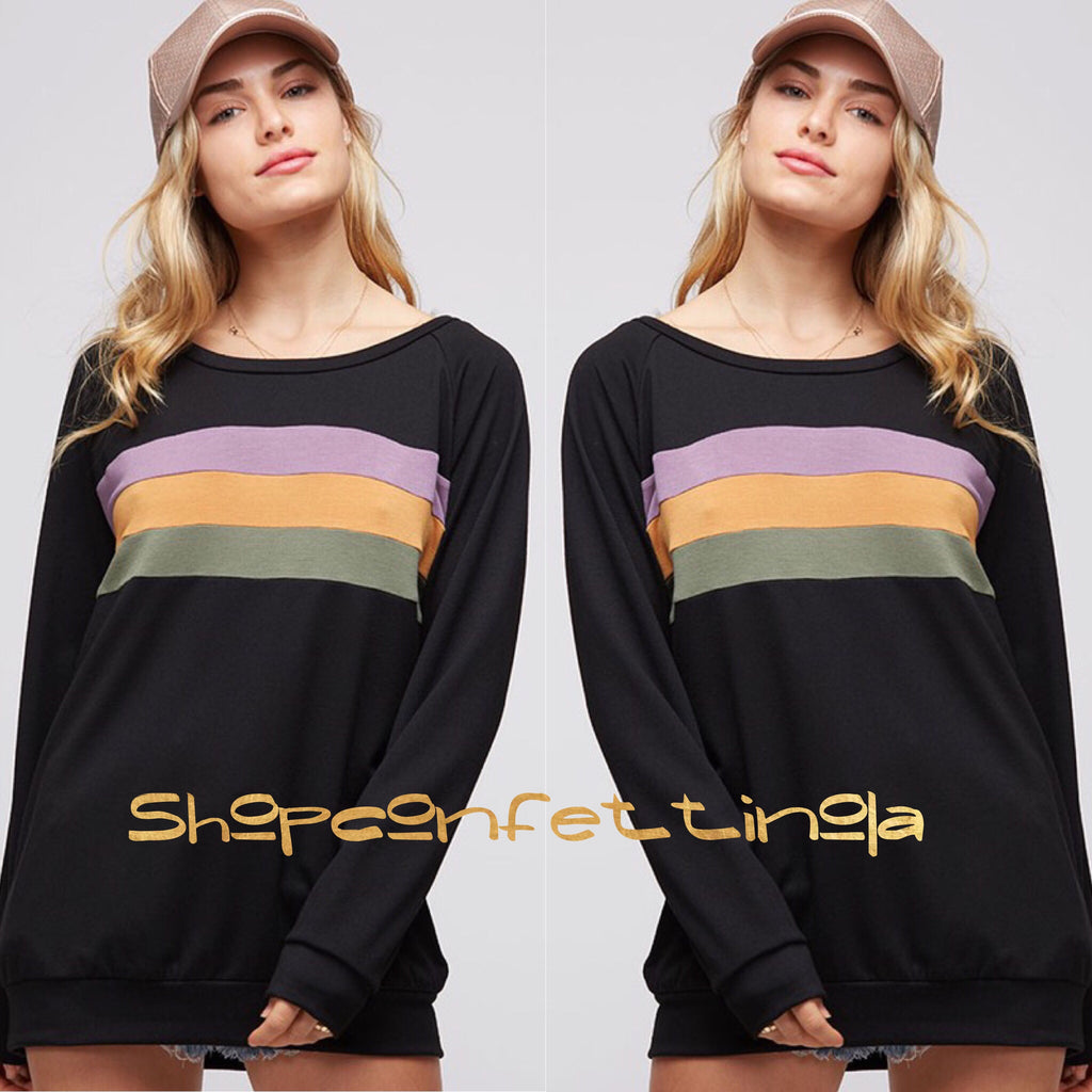 Mardi Gras Mambo Rainbow Long Sleeve - Black