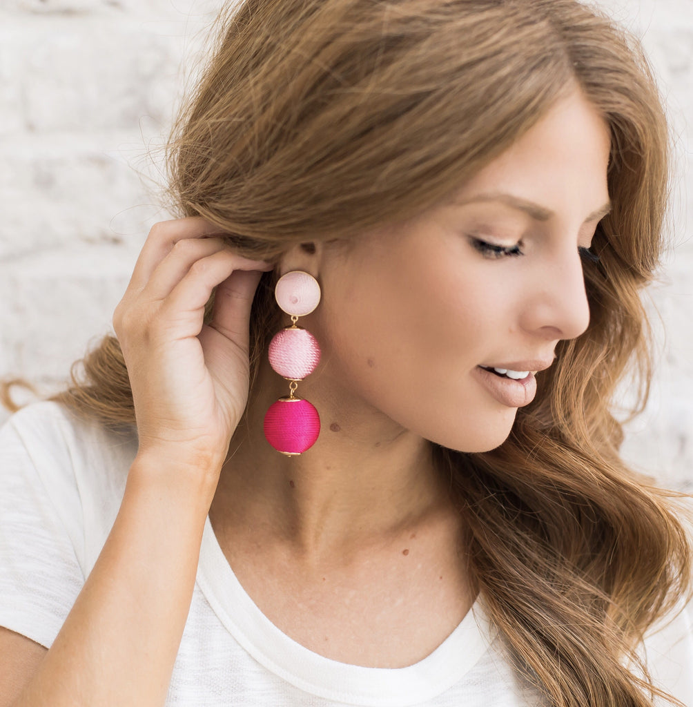 Gumdrop Ombre' Earrings - Pink