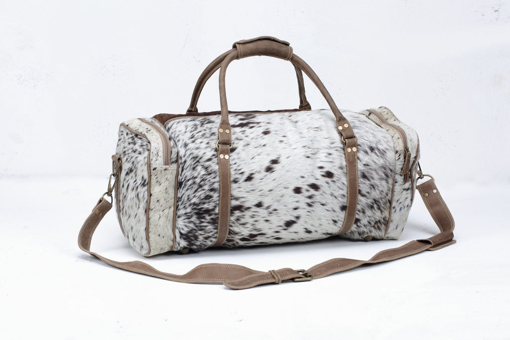 Dallas Duffle - Confetti Cowhide Collection
