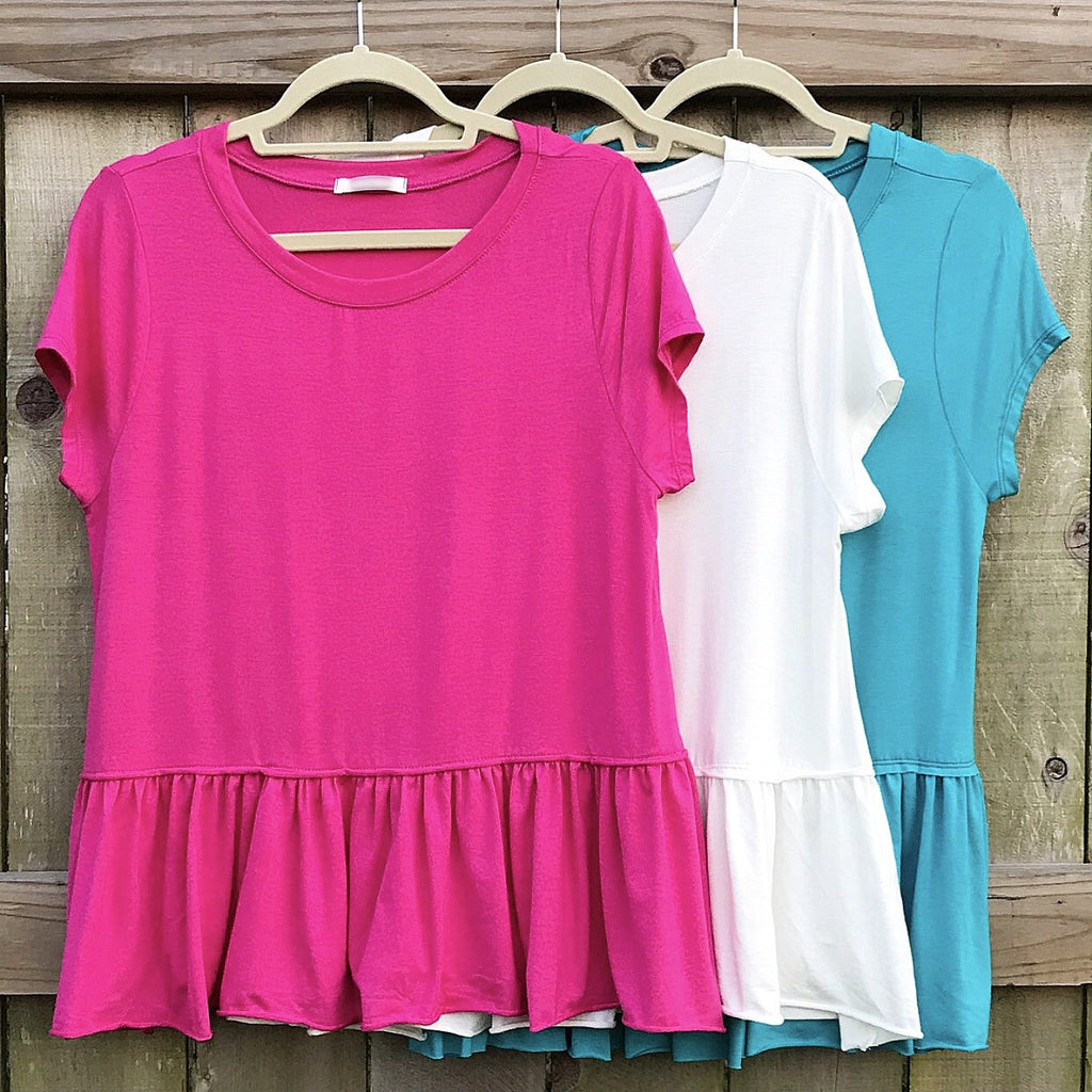 Free Falling Babydoll Tee - 3 Colors