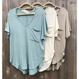 Premium Pocketed V-Neck Tee