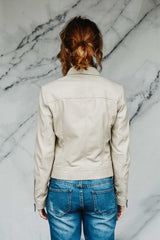 Beach Sand Leather Jacket
