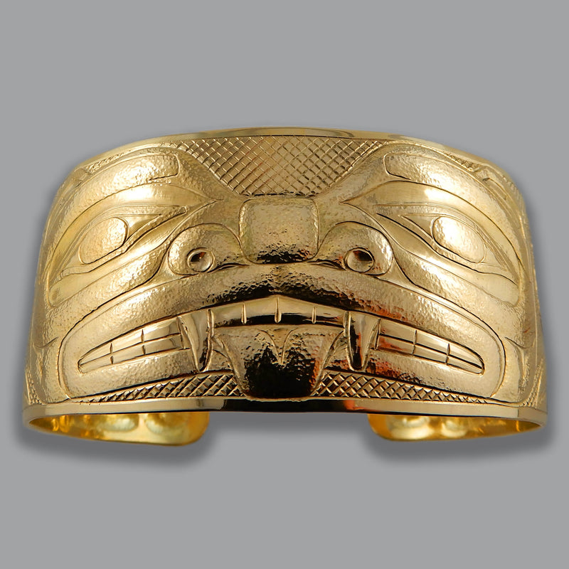 Native American Jewelry - Thunderbird Gold Bracelet