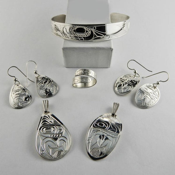 Orca or Whale Spirit Silver Native Jewelry Collection