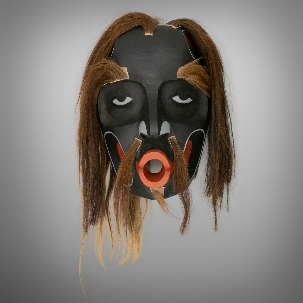 Large Dzunukwa or Tsonoqua Mask by Calvin Hunt