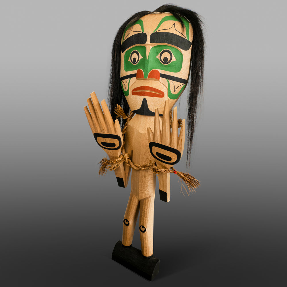 Tuxw'id Female Warrior Spirit Puppet by Calvin Hunt