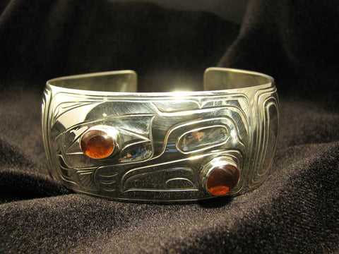 Raven Bracelet with Amber
