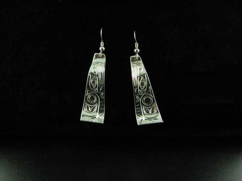 Silver Trapezoid Earrings