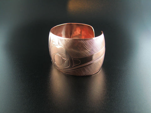 Haida Hummingbird Copper Bracelet