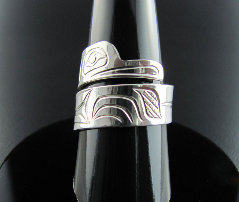 Hummingbird Silver Wrap Ring