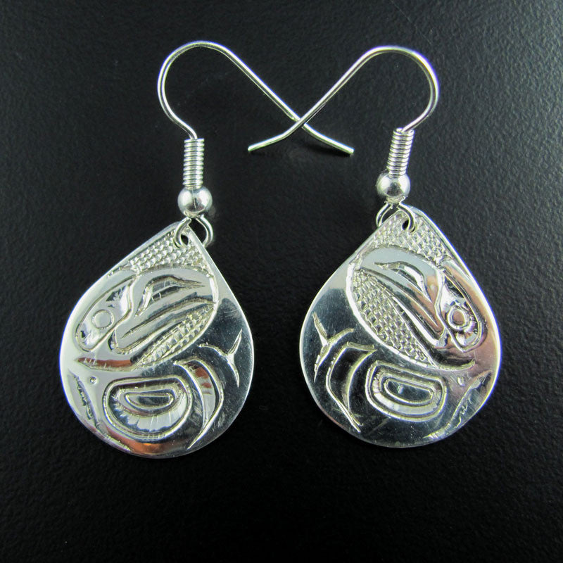 Haida Raven Small Teardrop Earrings
