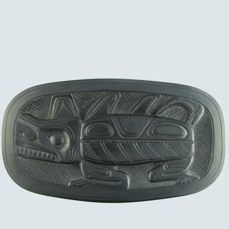 Argillite Haida Sea Monster or Wasco Bowl