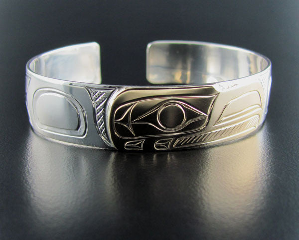 Eagle Silver and Gold 1/2 Inch Bracelet