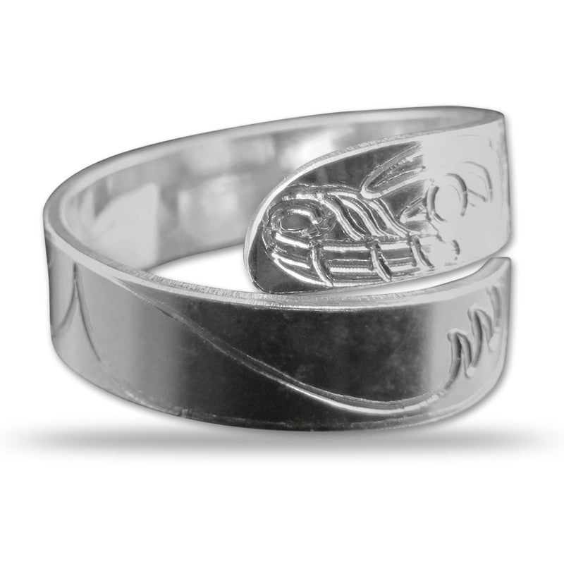 Bear Silver Wrap Ring Small