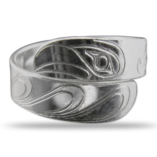 Eagle Silver Wrap Ring Small