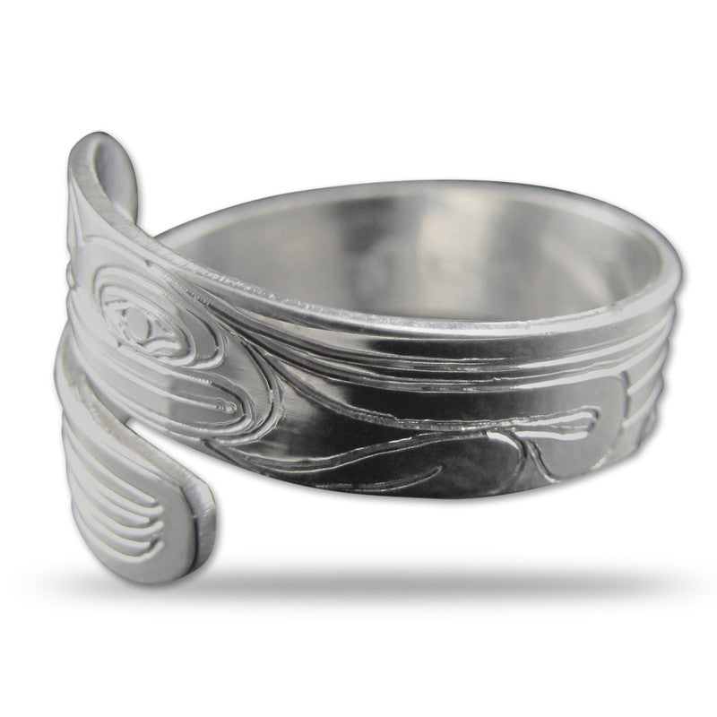 Frog Silver Wrap Ring Small