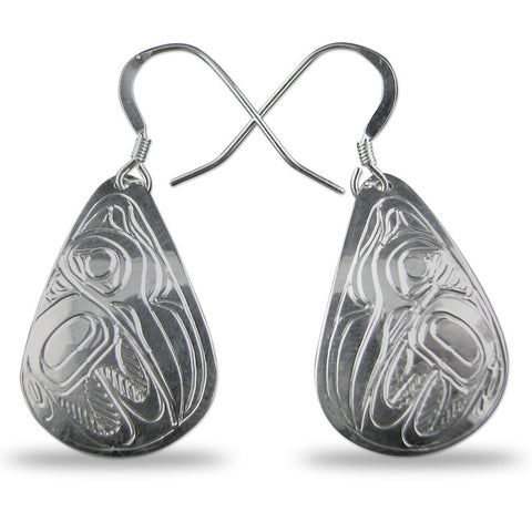 Hummingbird Teardrop Sterling Silver Earrings