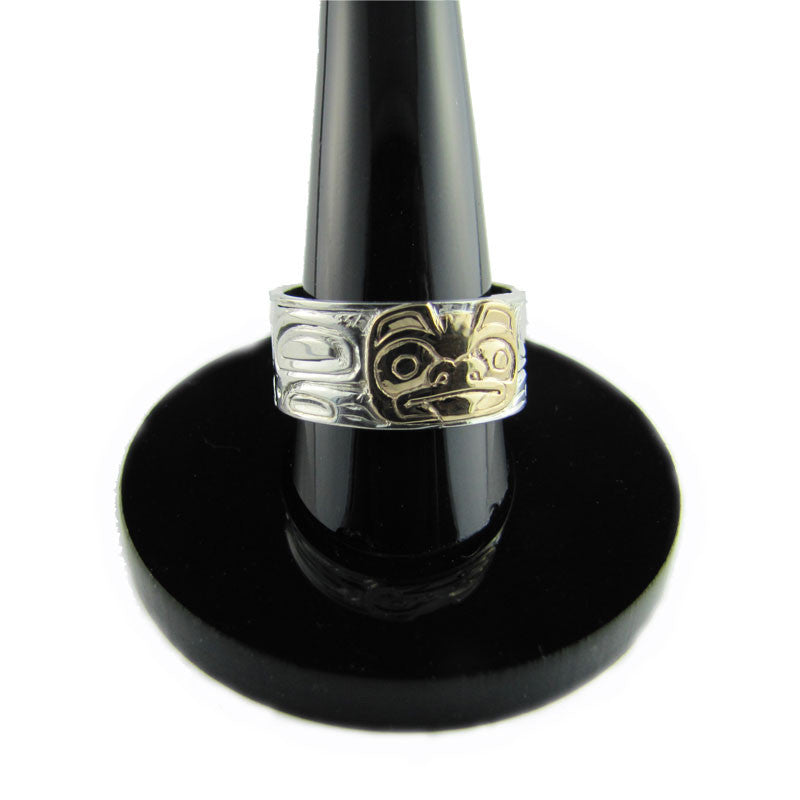 Bear Gold and Silver Ring Haida