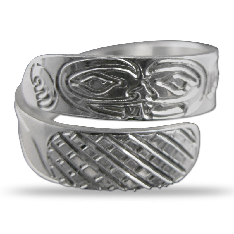 Beaver Silver Wrap Ring Small