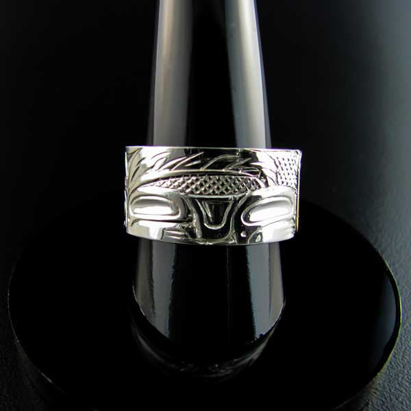 Haida Wolf Silver and Gold Band
