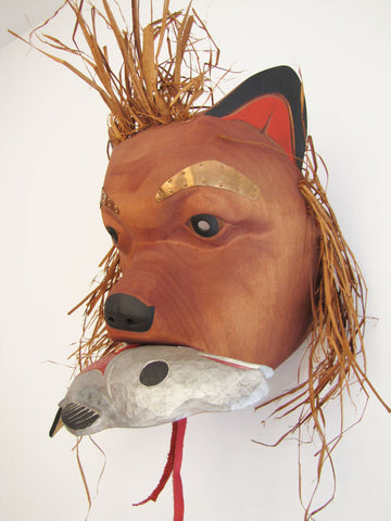 Bear with Salmon Mask