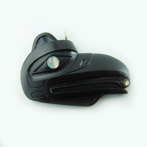 Haida Raven Steals the Light Argillite Pendant