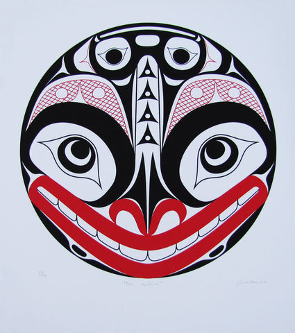 Two Sculpins Haida Print