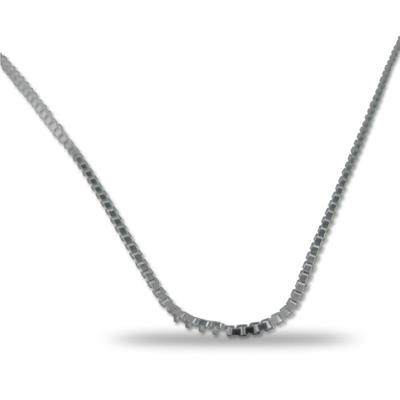 Silver Box Chain 3 mm wide 20 inches long