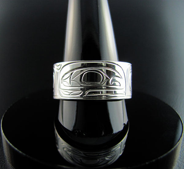 Orca or Killer Whale Silver Band