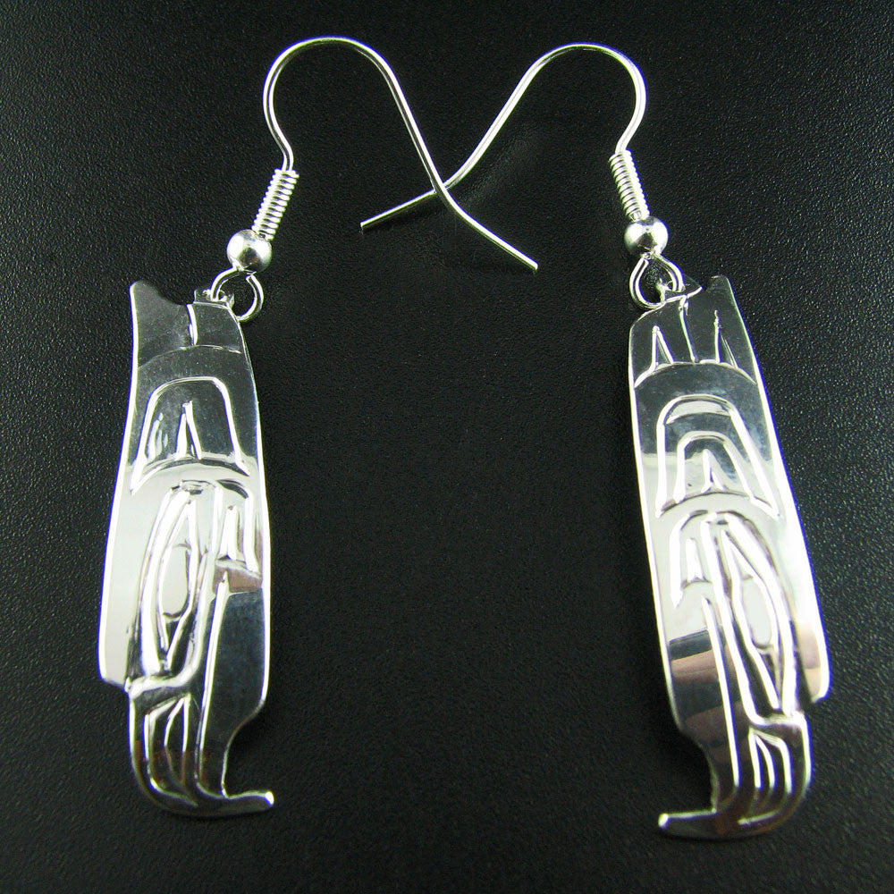 Haida Eagle Spirit Silver Earrings