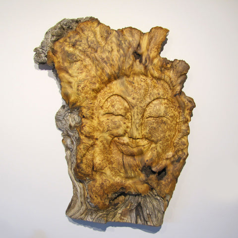 Lovable Trouble Yellow Cedar Burl Mask
