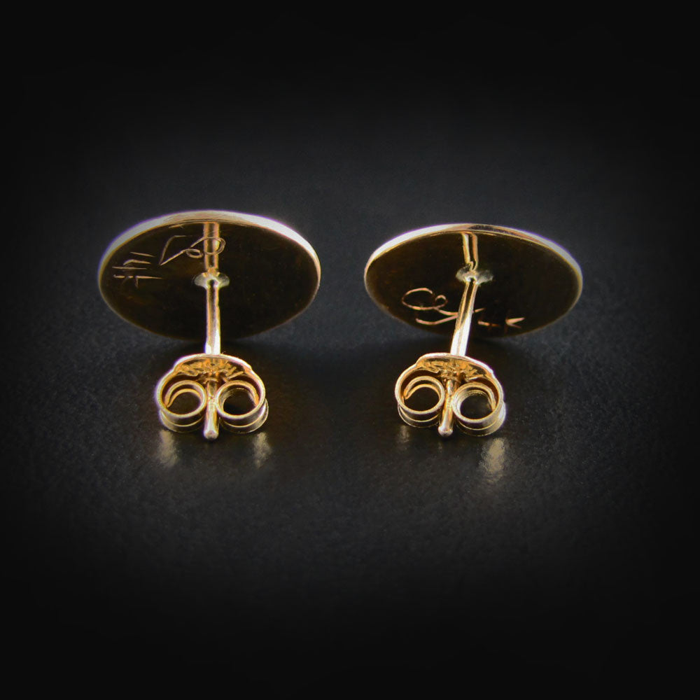 Gold Hummingbird Studs / Earrings