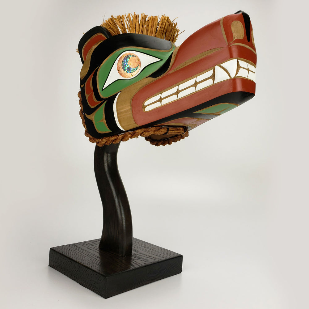 Grizzly Bear Headdress by Karver Everson