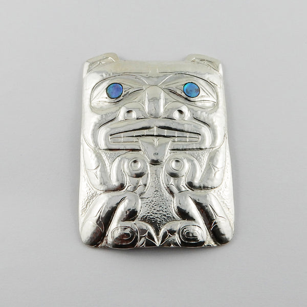 Haida Bear with Abalone Pendant
