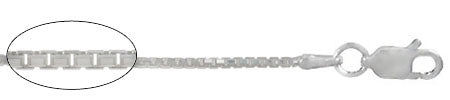 Silver Box Chain .8 mm wide 20 inches long