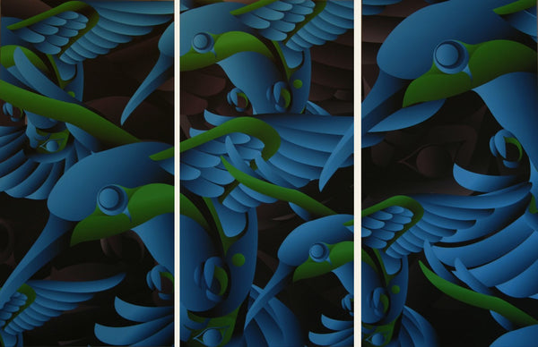 Charmed Triptych Limited Edition Print by Alano Edzerza
