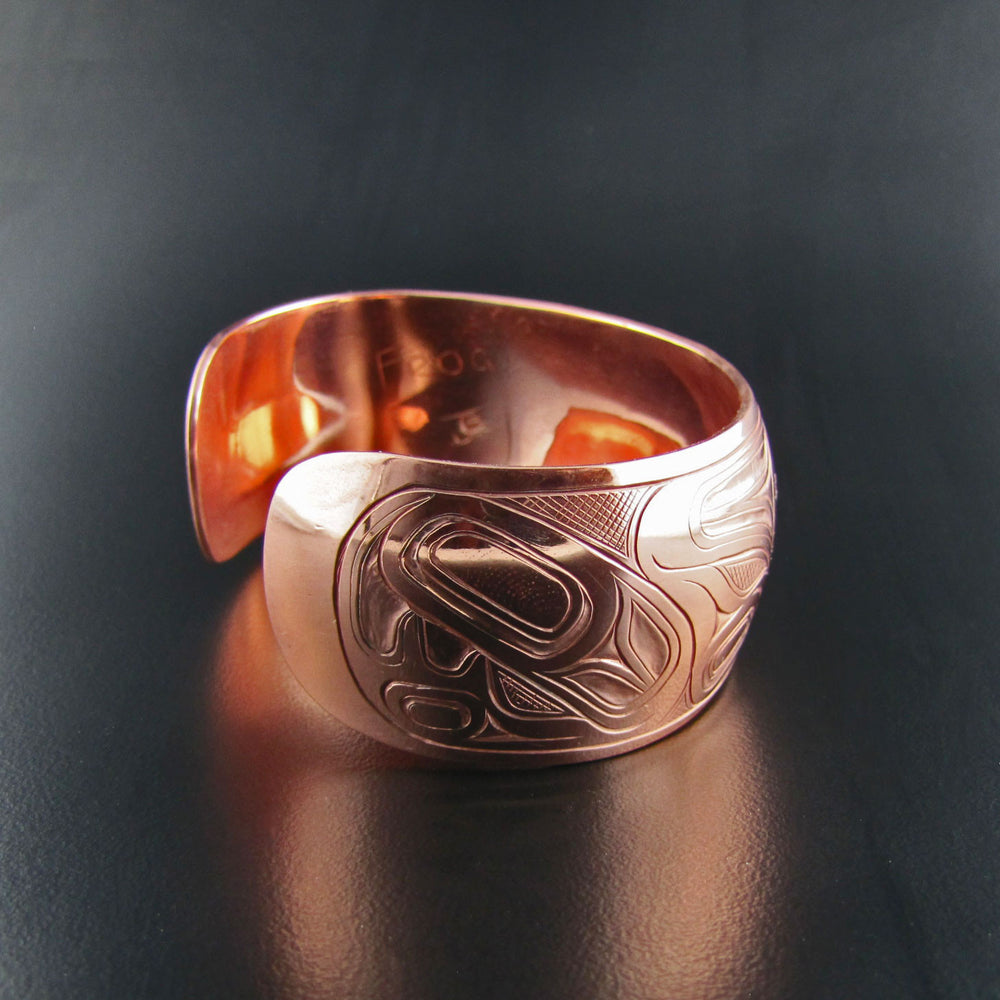 Copper Frog 1 Inch Bracelet By Joe Wilson