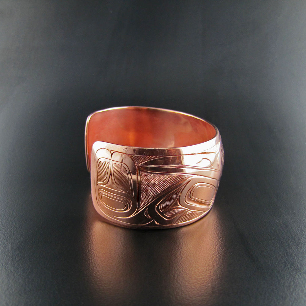 Copper Double Hummingbird Bracelet by Joe Wilson