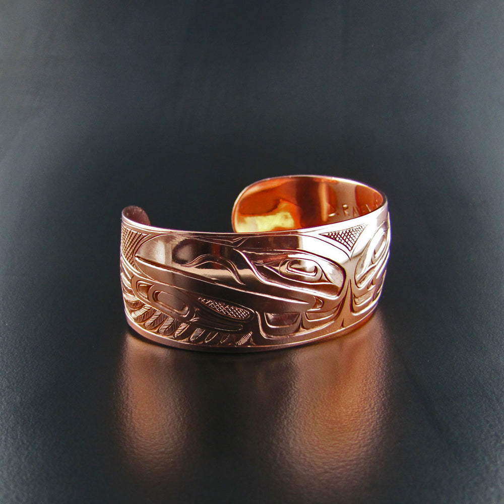 Copper Raven 1 Inch Bracelet By Joe Wilson