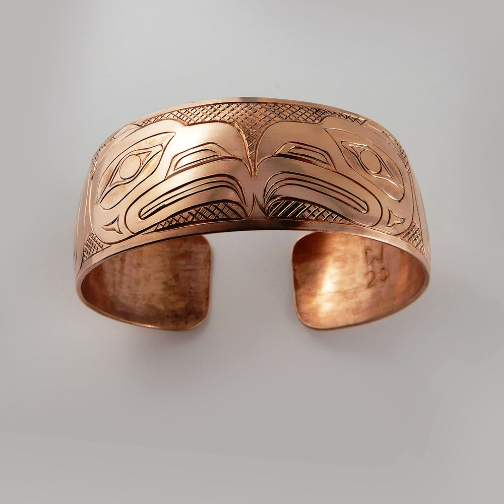 Haida Copper Double Eagle Bracelet by Derek White