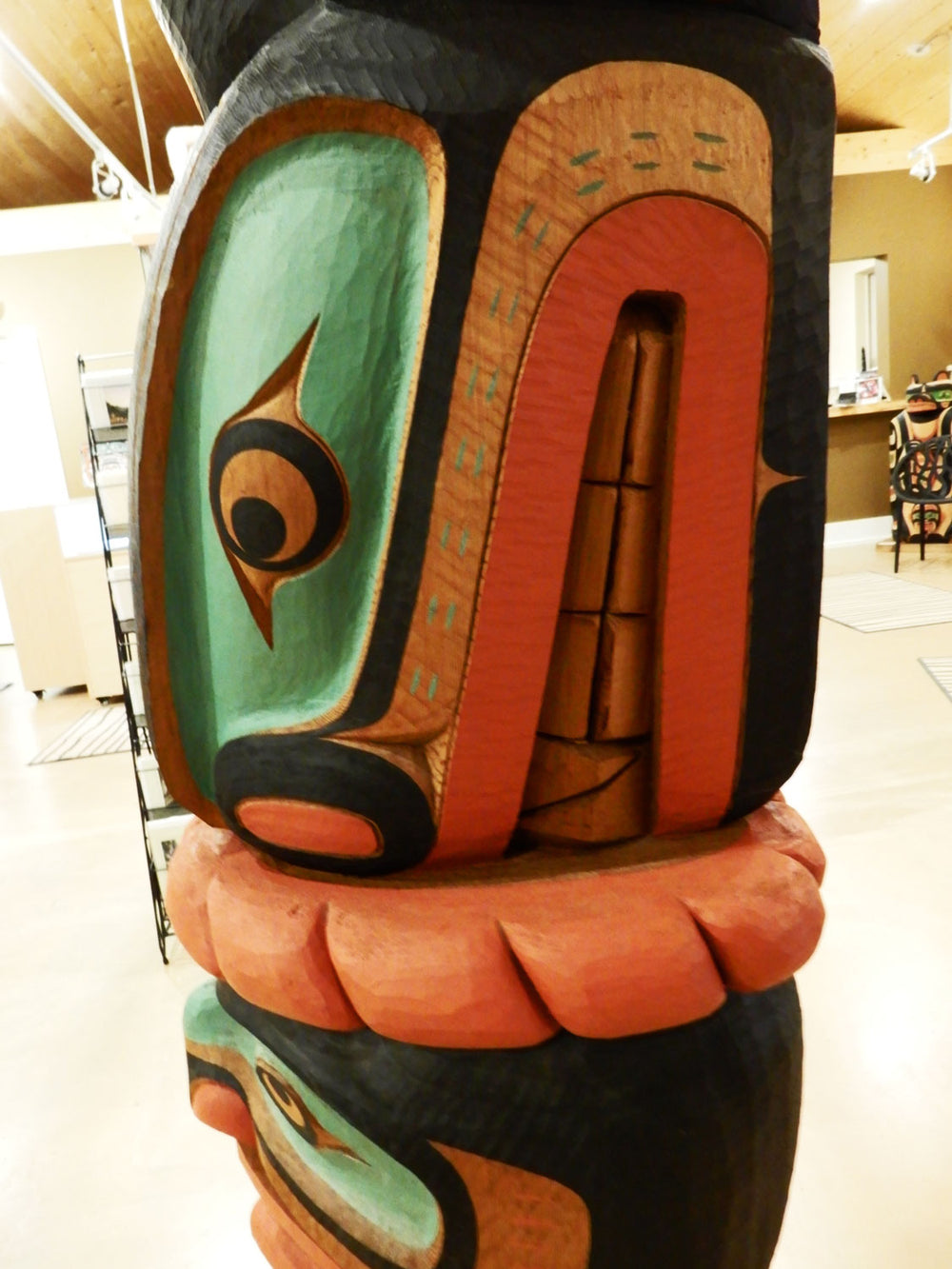 Thunderbird Orca and Chief Totem Pole by Calvin Hunt