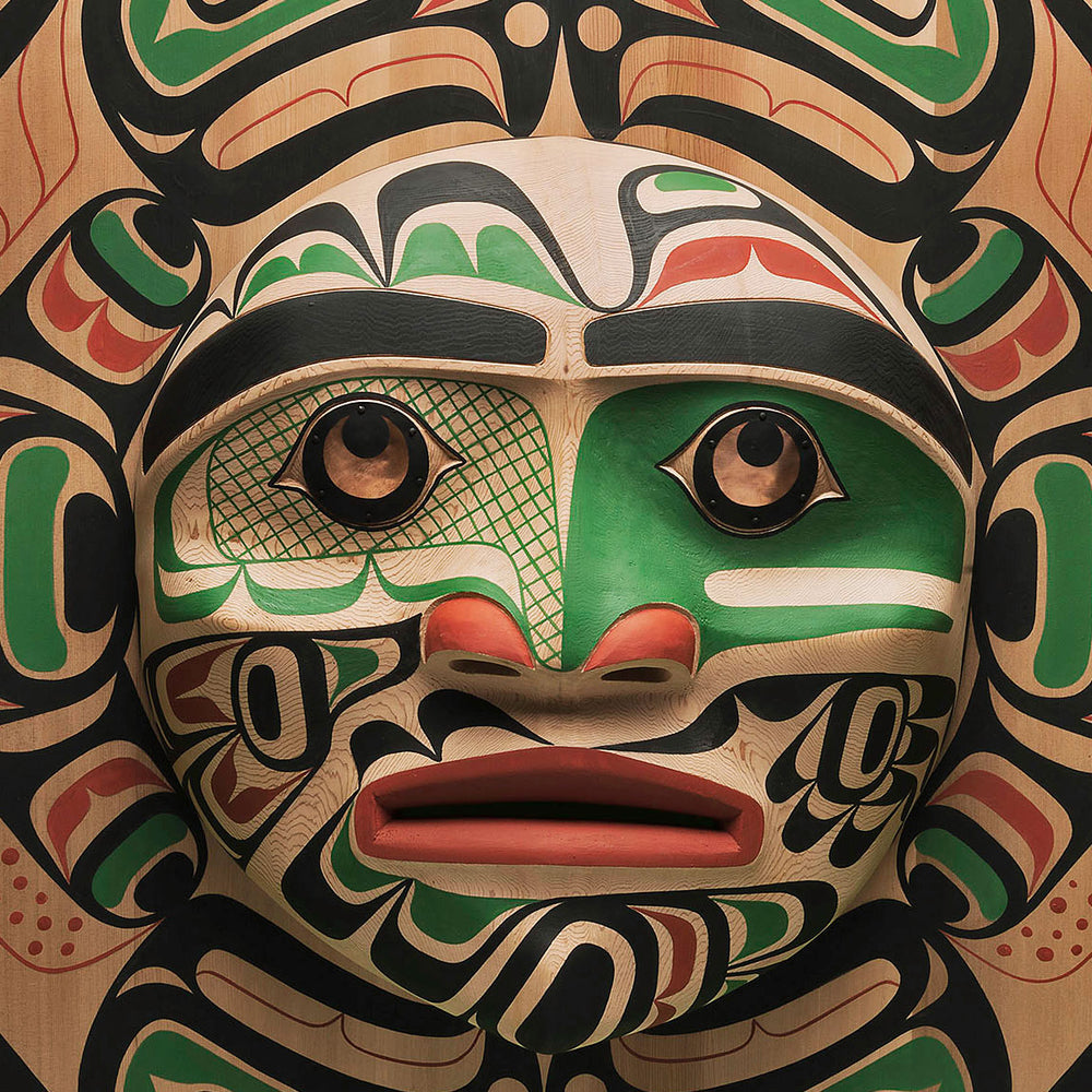 Large Moon Mask with Salmon Design by Calvin Hunt