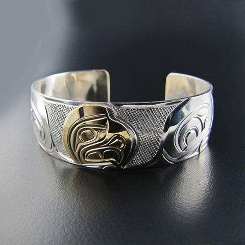 Eagle Gold and Silver Bracelet by Rick Johnson